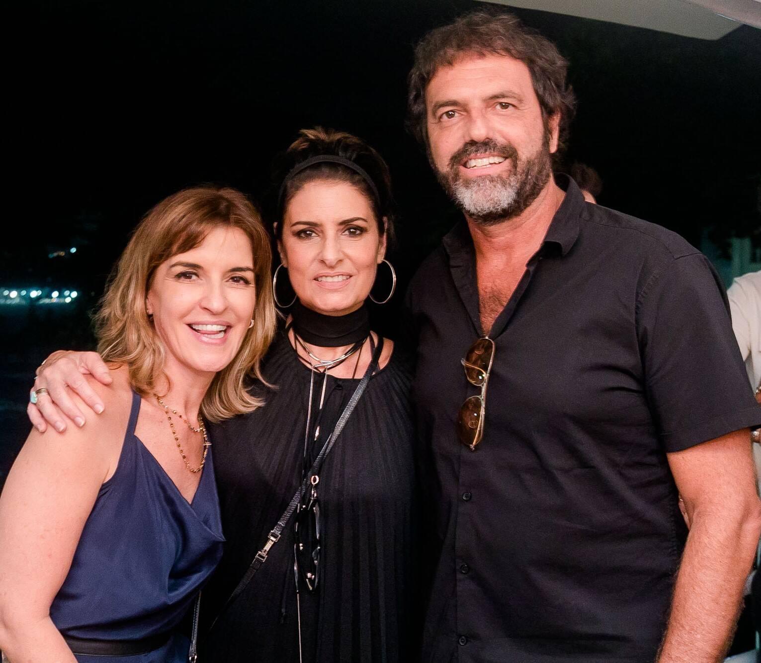 Fabiane Costa, Fernanda Abreu e Tuto Ferraz   /Foto: Miguel Sá