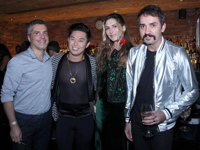 Claudio Cadeco, Felipe Ishihama, Rosana Braga e Beto Silva