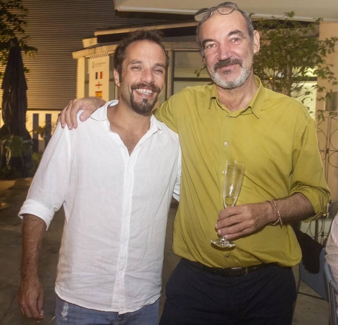 O chef Elia Schramm e Jorge Neves /Foto: Vera Donato