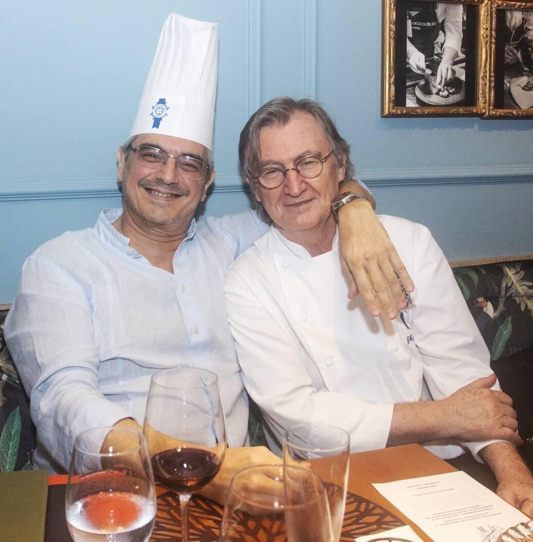 Pedro Mello e Souza com o chef Philippe Brye /Foto: Vera Donato
