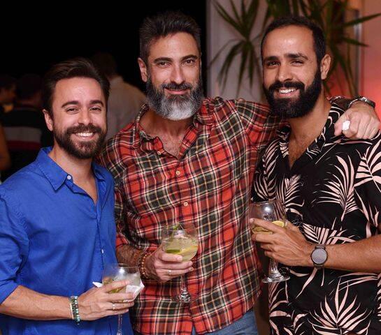 Guilherme Cintra, Fabio Cardoso e David Lima