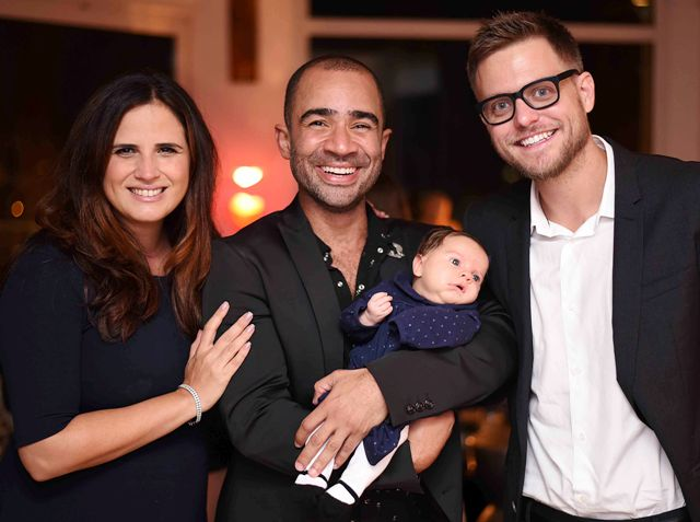 Roberta Pimentel, Vitor Brasil, Celina e Philip Kelley