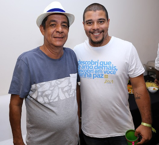 Zeca com o filho Carlos