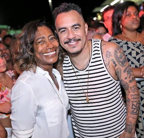 Glória Maria e Marcelo D2