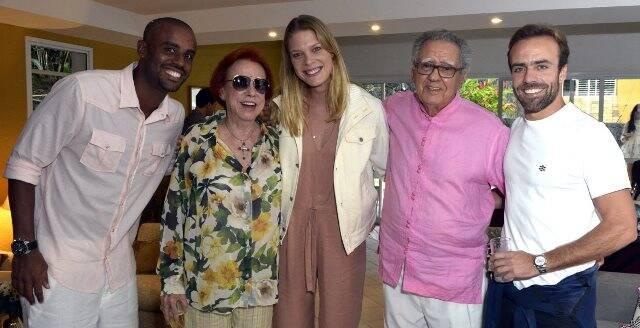Felipe Adão, Lucy Barreto, Betina Schmidt, Luiz Carlos Barreto e Roger Flores