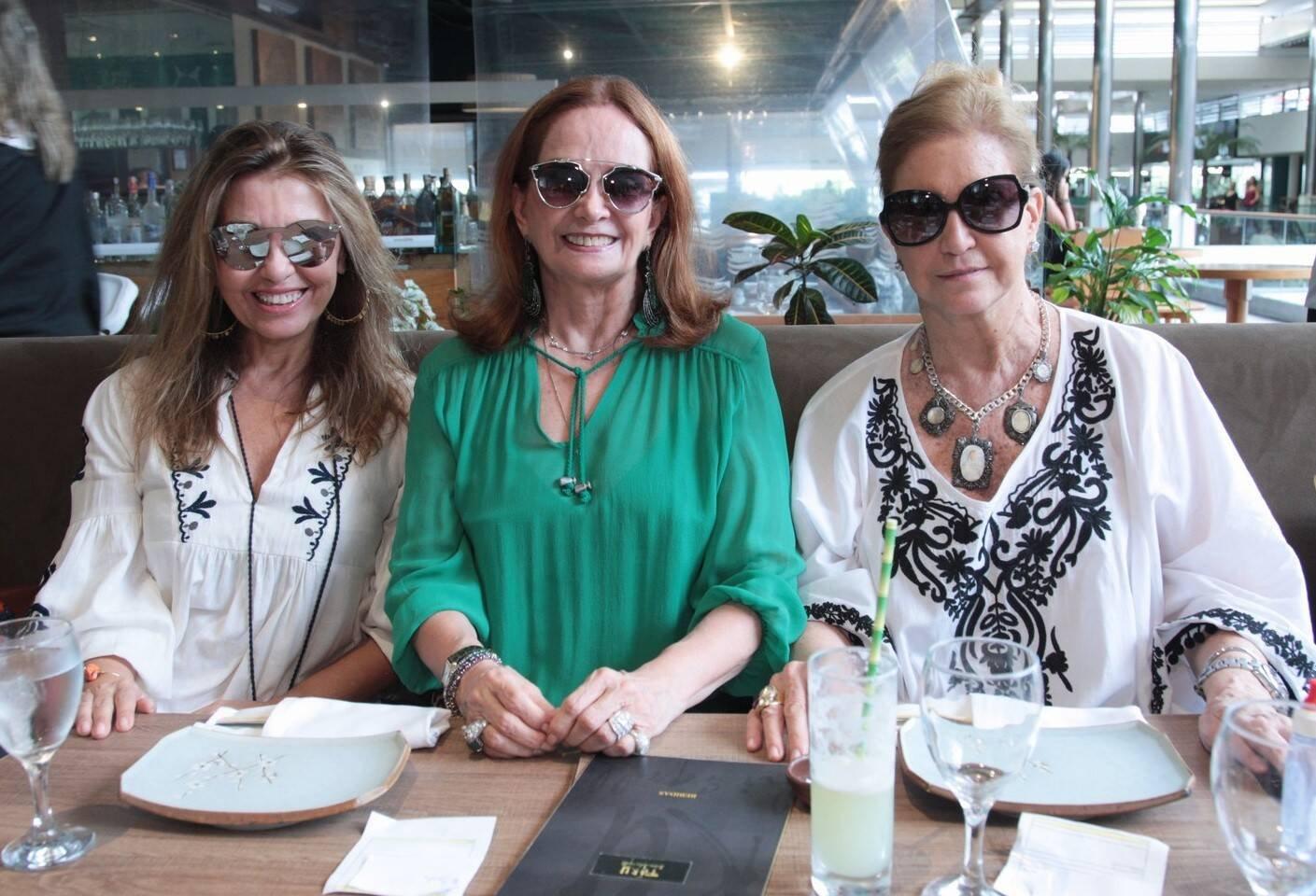Kiki Bastos, Sueli Stambowsky e Madeleine Saade /Foto: Vera Donato