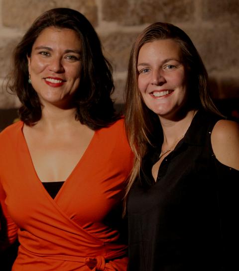 Amanda Rostelo Monteiro e Andressa Damin