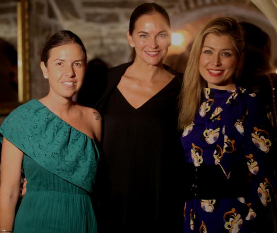 Morena Leite, Mary Matthews-Garneiro e Marina Giuberti