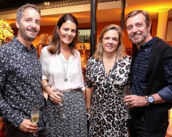 Pedro Guimarães, Tininha Machado Coelho, Luciana Caravello e Nando Grabowski