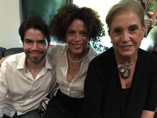Luiz Fernando Coutinho, Marialice Celidõnio e Madeleine Saade
