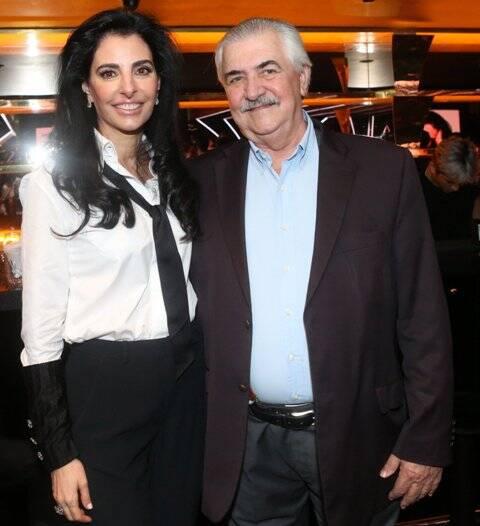 A atriz Antônia Frering com o médico Luiz Antônio Santini