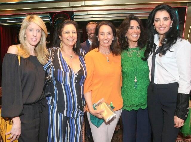 Isabella Lohmann, Clara Magalhães, Marina Sauer, Isabela Lage e Antonia Frering