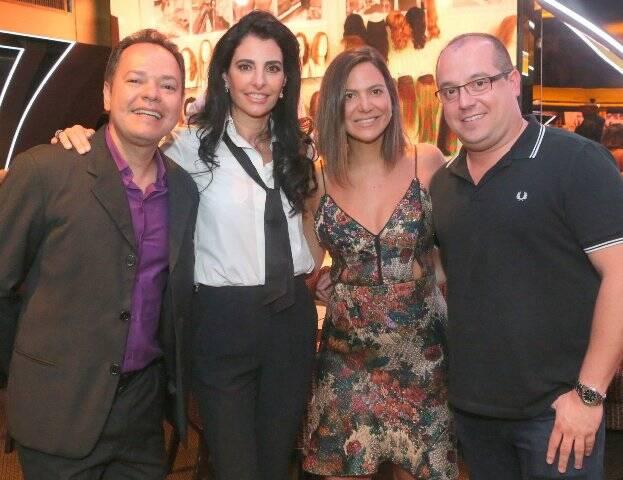 Marcio Damasceno, Antonia Frering, Carol Sampaio e Michel Diamant