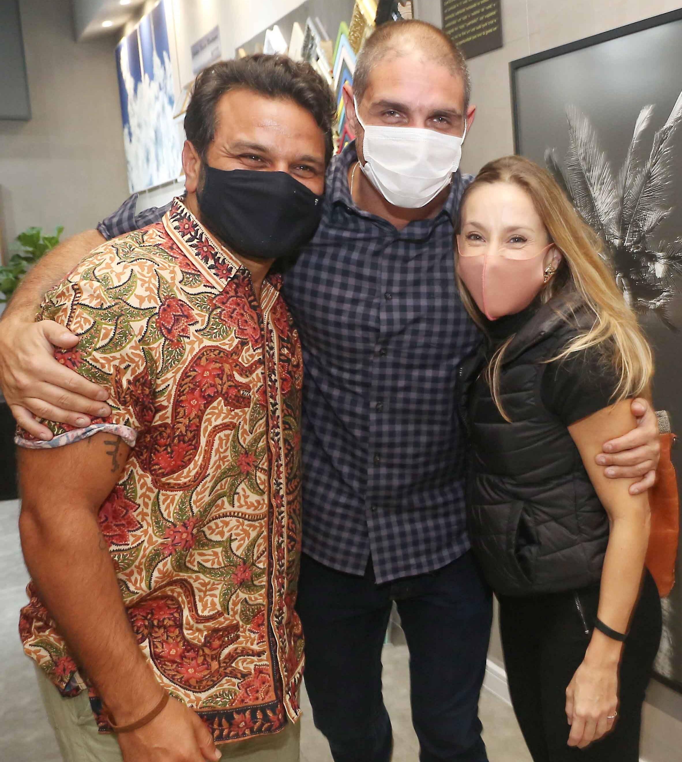 Pedrinho Salomão, Ari Kaye e Alessandra Amaral /Foto: Reginaldo Teixeira