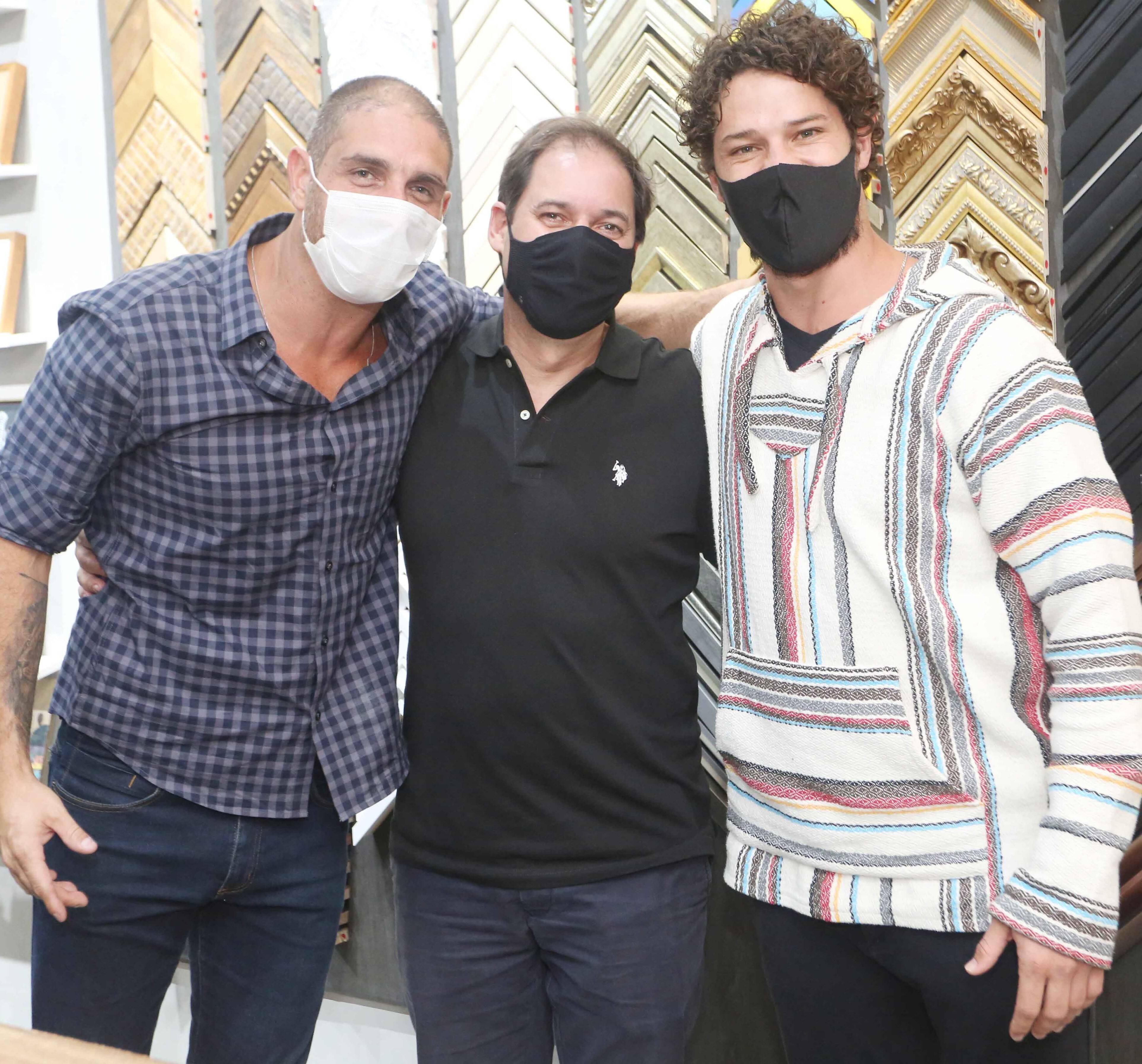 Ari Kaye, Rodolfo Moraes e José Loreto /Foto: Reginaldo Teixeira