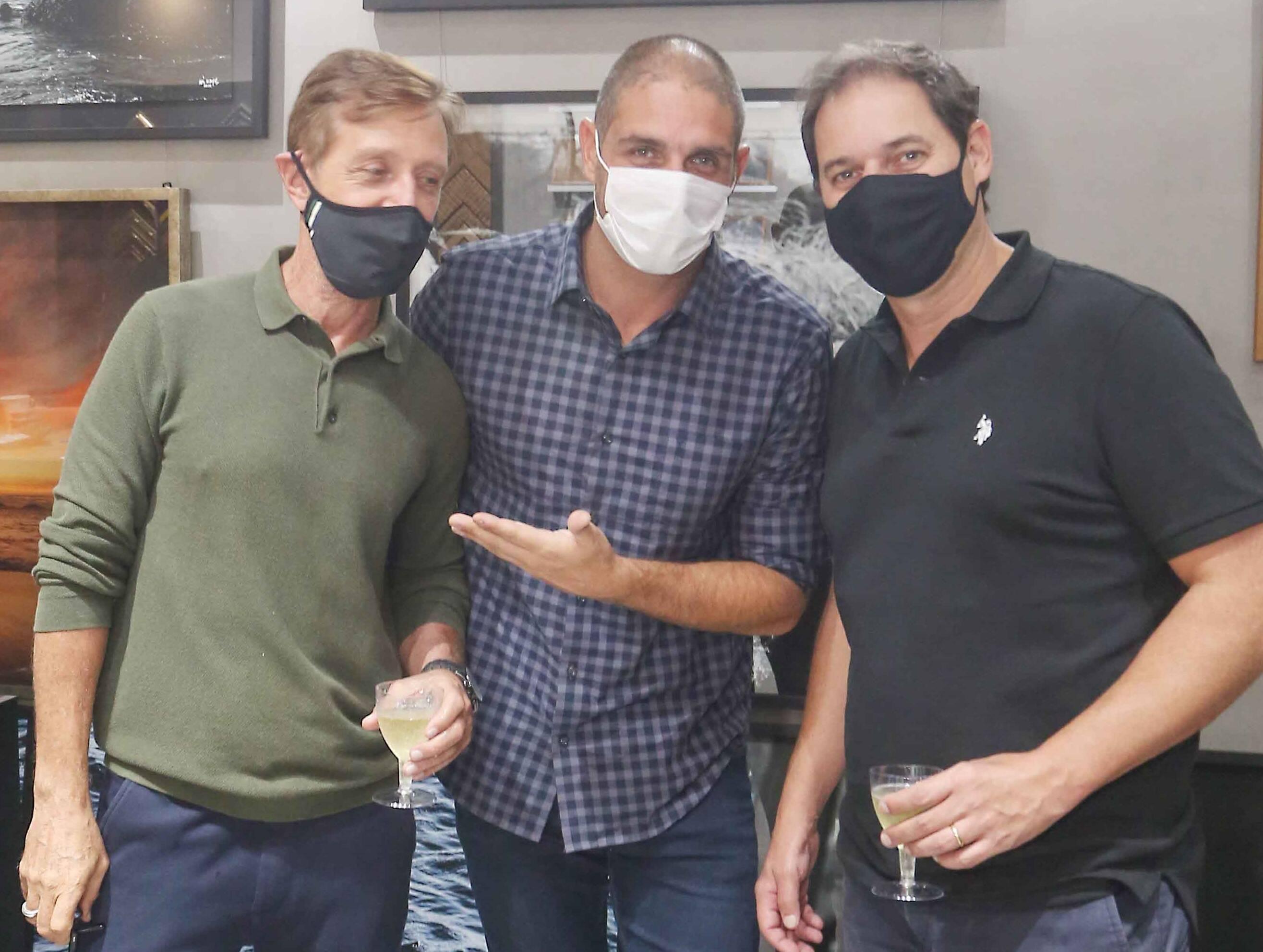 Nando Grabowsky, Ari Kaye e Rodolfo Moraes /Foto: Reginaldo Teixeira