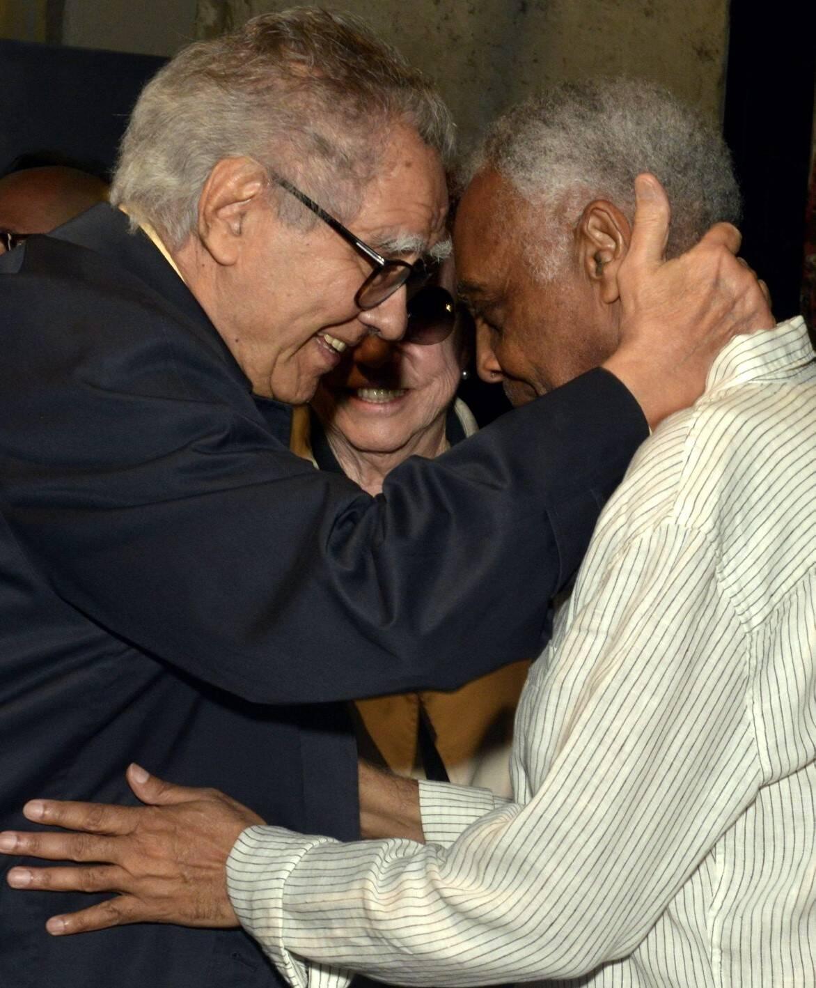 Luiz Carlos Barreto e Gilberto Gil /Foto: Cristina Granato
