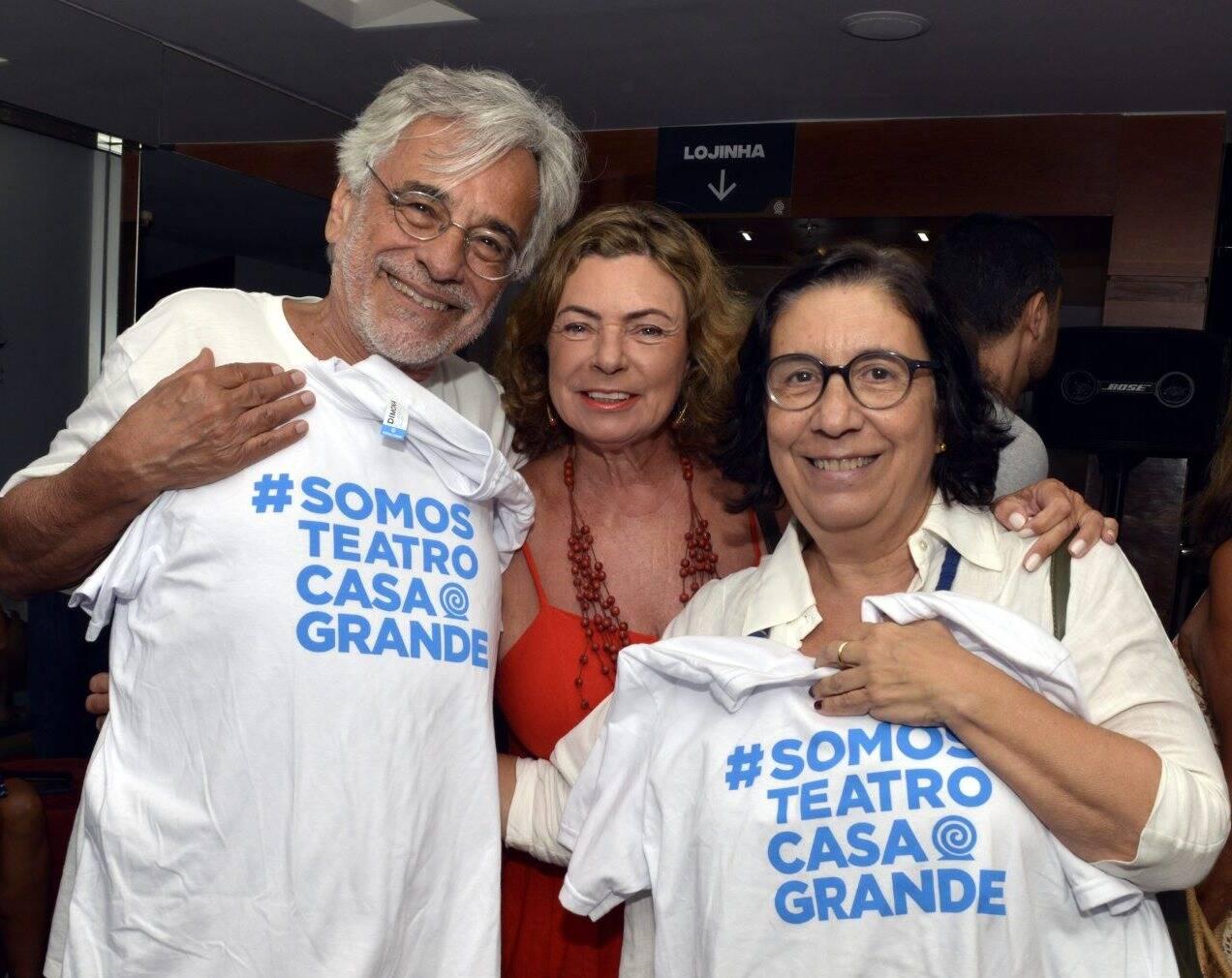 Aderbal Freire Filho, Rosa Maria Araújo e Regina Zappa  /Foto: Cristina Granato