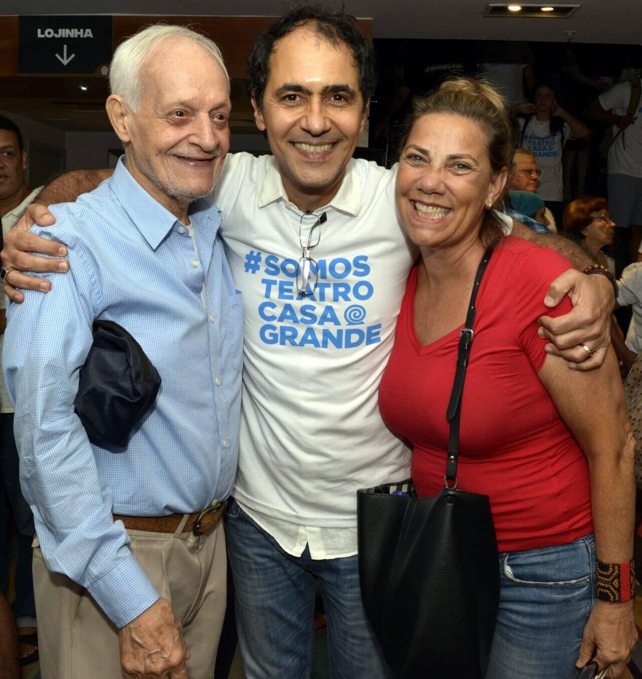 Orlando Miranda, Léo Haus e Valéria Machado Colela  /Foto: Cristina Granato