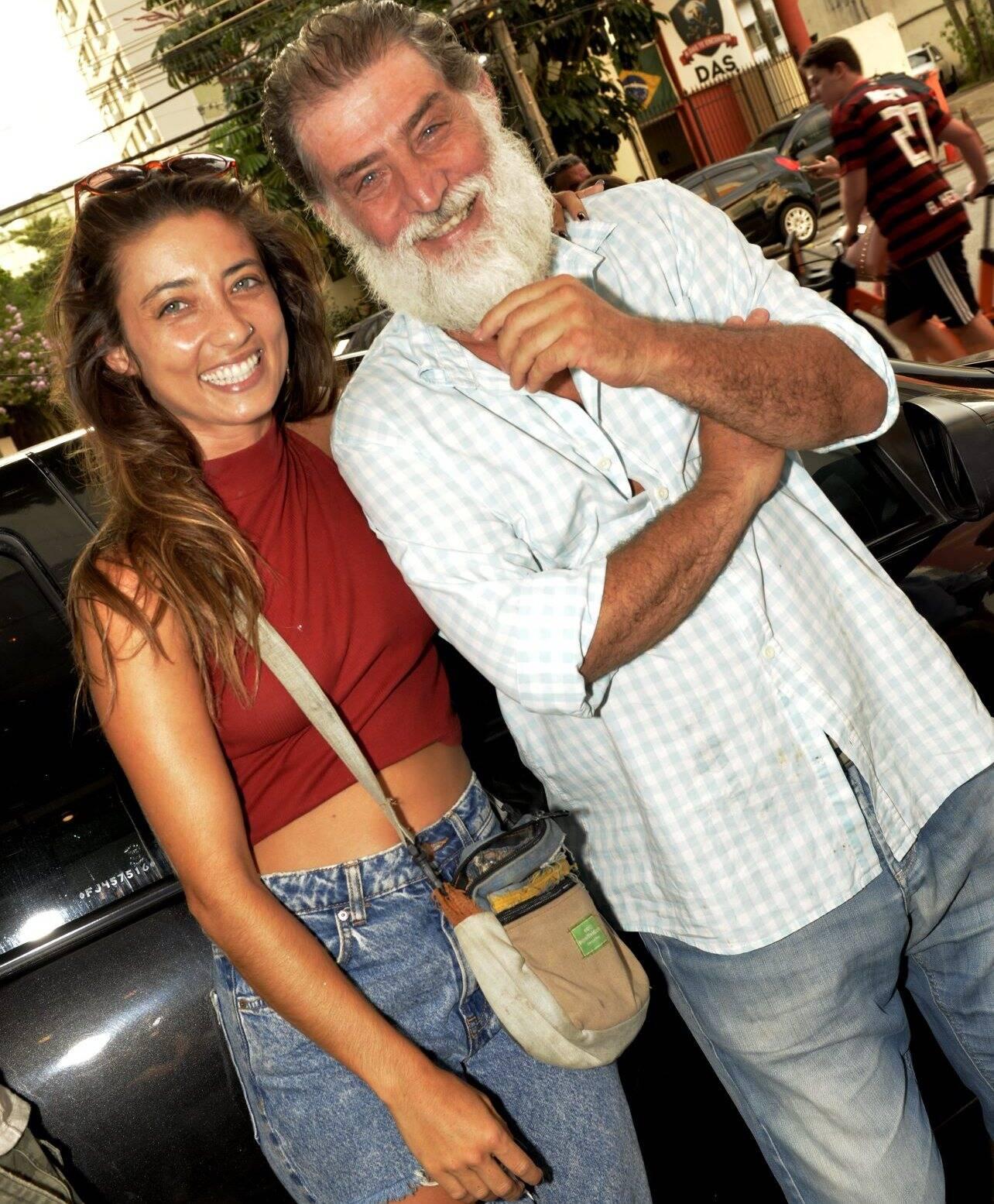 Julia e o pai, Giuseppe Oristanio /Foto: Cristina Granato