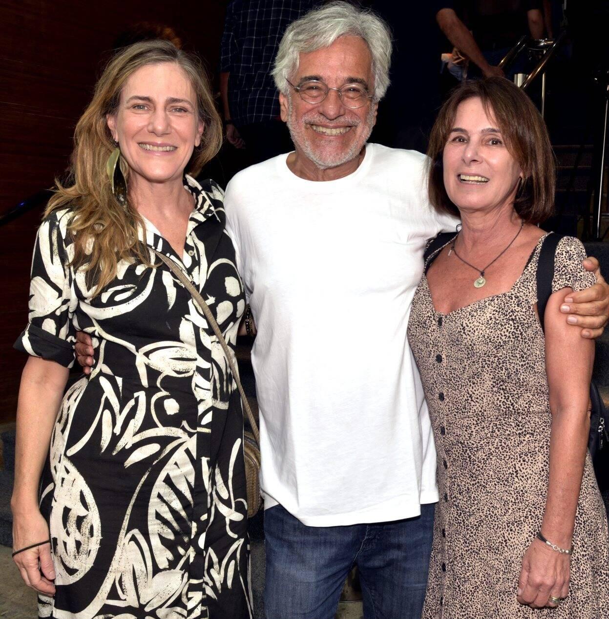 Dedina Bernadelli, Aderbal Freire Filho e Cacá Mourthé  /Foto: Cristina Granato