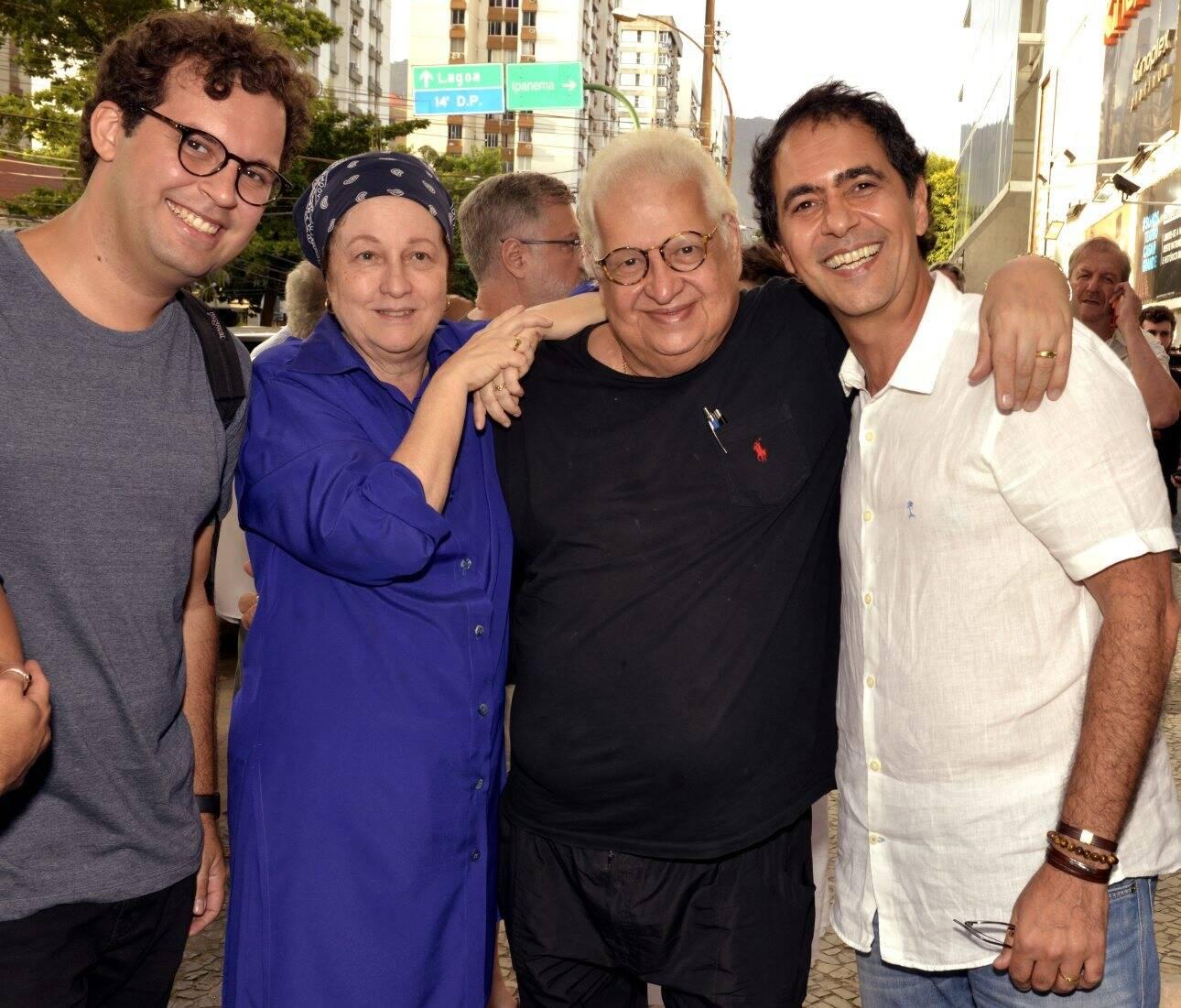 Marcus Brandão, Beth e Luiz Carlos Serpa e Léo Haus /Foto: Cristina Granato