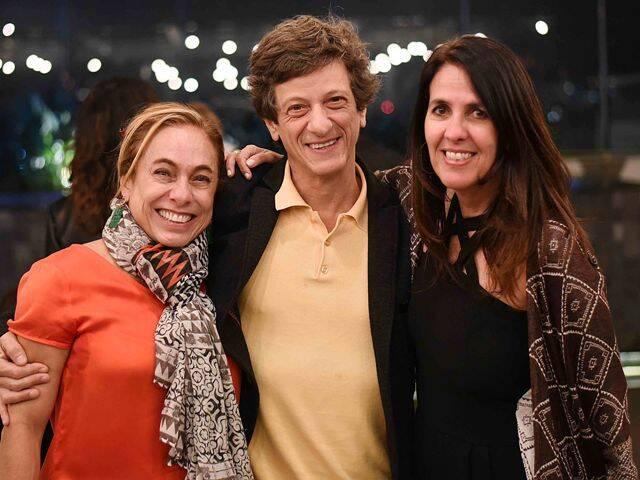 Cissa Guimarães, Ernesto Piccolo e Martha Medeiros