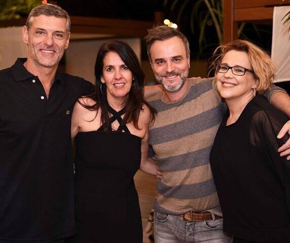 Daniel Petry, Martha Medeiros, Marcelo Valle e Ana Beatriz Nogueira