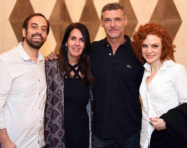 Jacques Fux, Martha Medeiros, Daniel Petry e Maria Eduarda de Carvalho