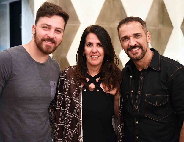 Joabe Coelho, Martha Medeiros e Marcelo Saback
