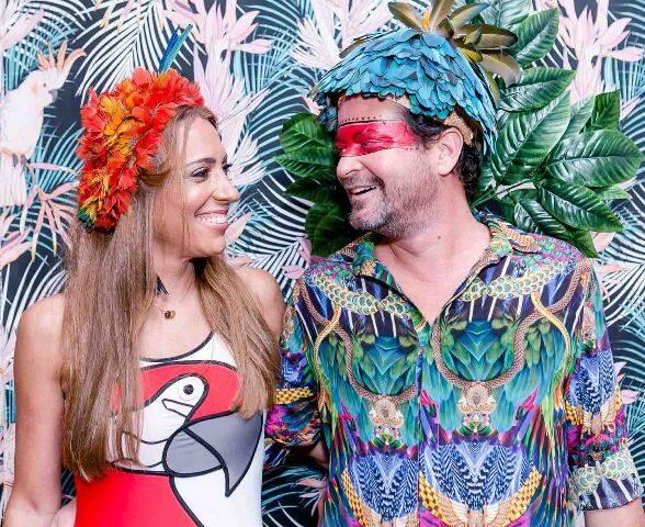 O casal Paula Marinho e Miguel Pinto Guimarães