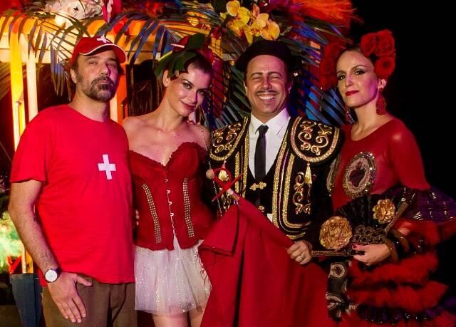 Marcelo Freire, Aline Moraes, Vik Muniz e Malu Barreto