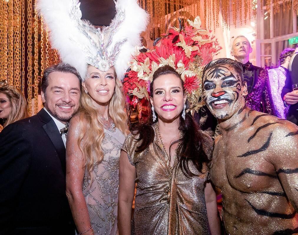 Carlos Vieira, Nina Stevens, Narcisa Tamborindeguy e Flavio Barra /Foto: MS Fotos