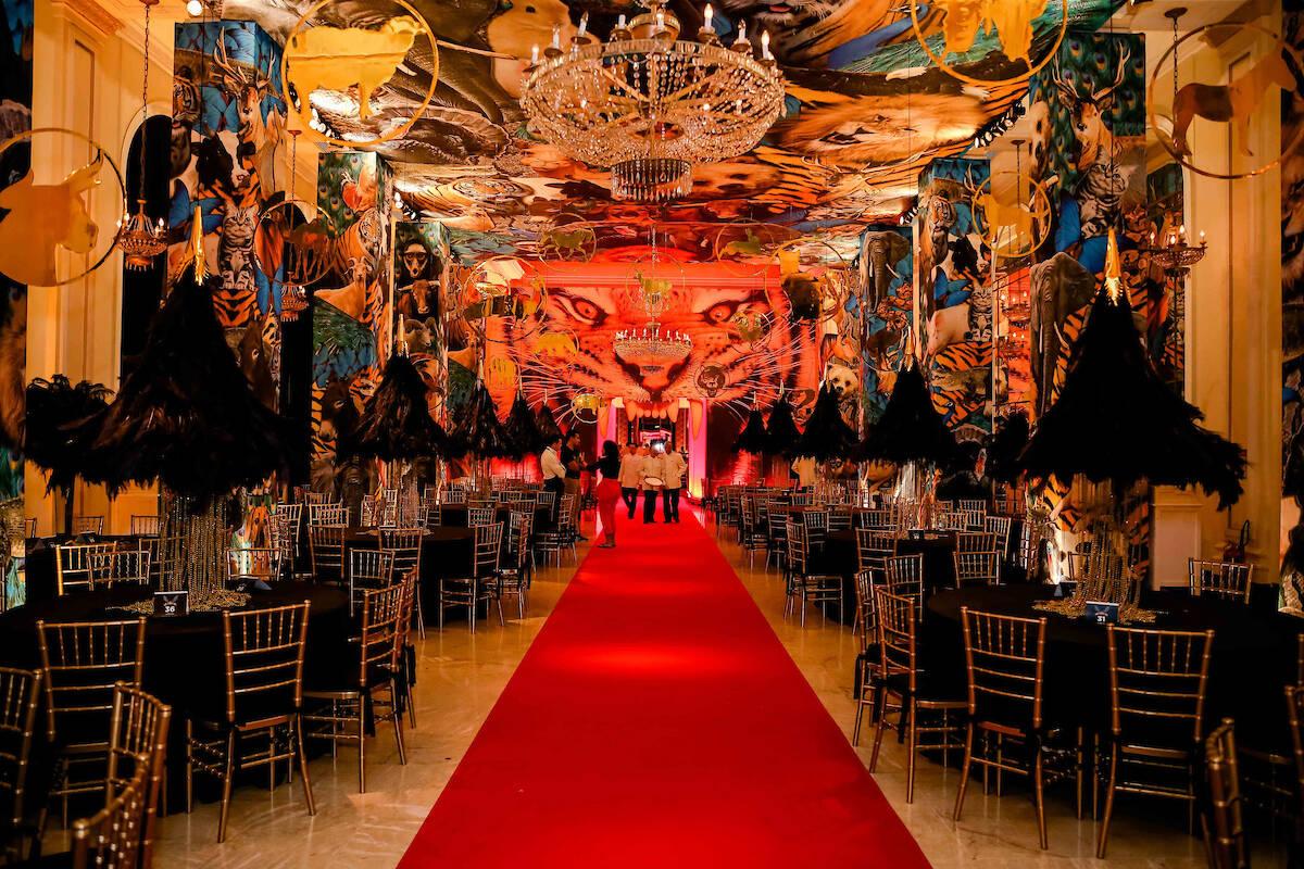 """Um dos salões do baile, inspirado no tema """"Abra suas asas"""" /Foto: MS Fotos"""