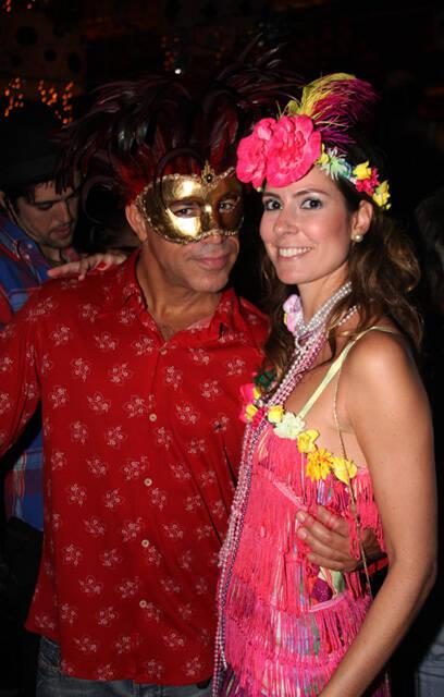 Luiz Calainho e a linda Fernanda Cortez