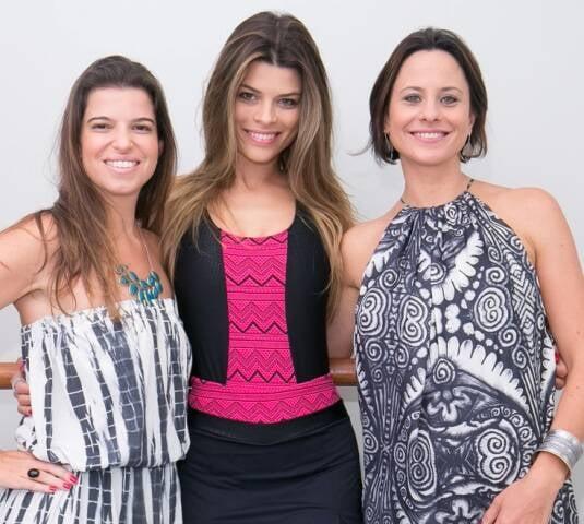 Tatiana Cunha, Michele Pin e Luiza Continentino