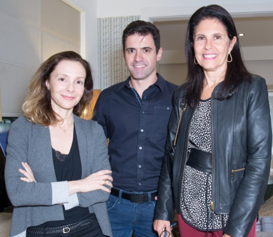 Cris Dornelles, Rodrigo Barbosa e Lilian Campos