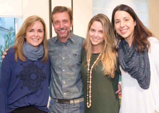 Eliane couto, Luiz Fernando Grabowsky, Patrícia Couto e Juliana Tiziani