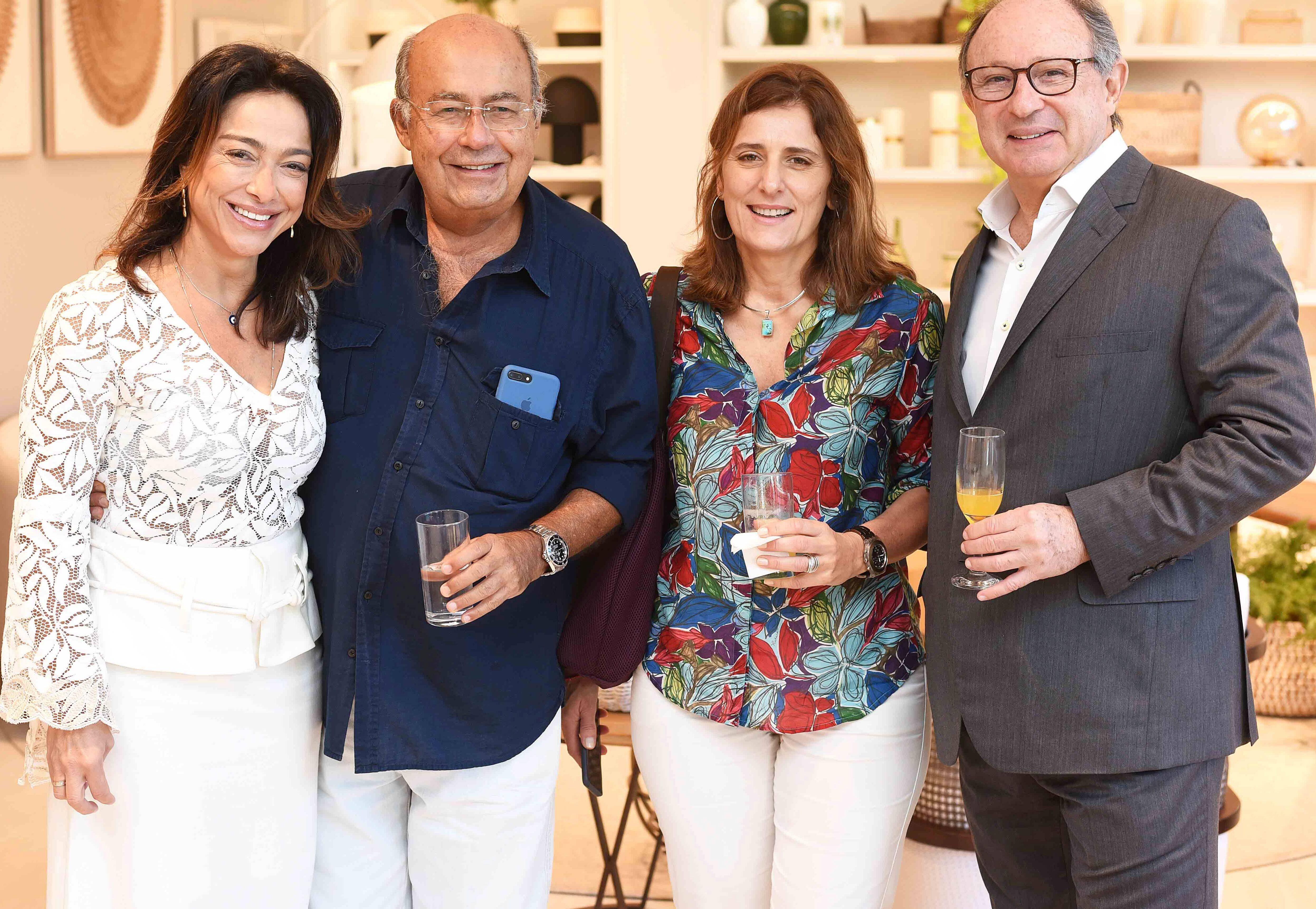 Ana Paula Iespa, Heitor Derbli, Andrea Eboli e Marcel Rivkind/ Foto:  Ary Kaye
