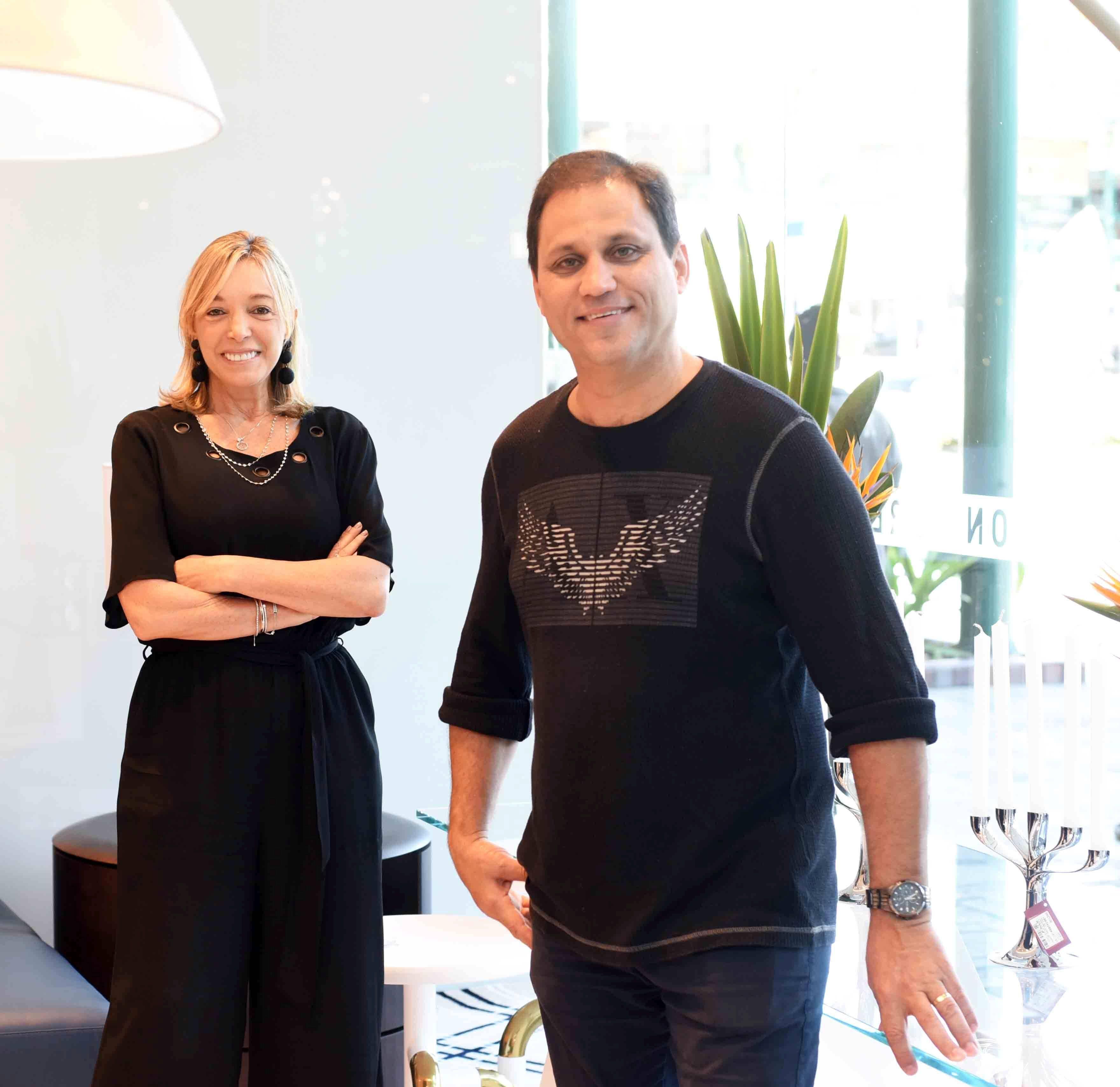 Anette Rivkind e Paulo Niemeyer/ Foto:  Ary Kaye