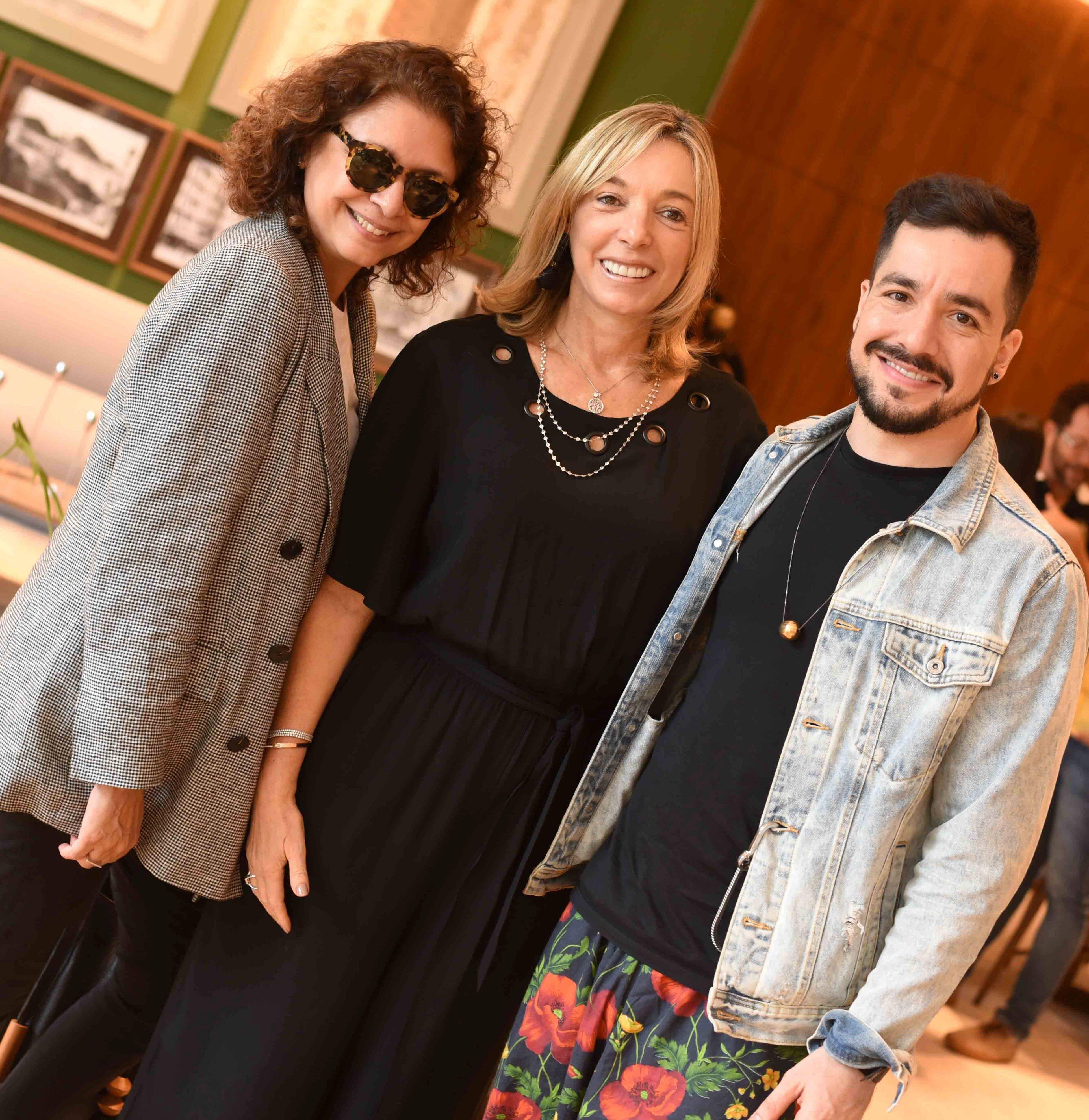 Cristina Alho, Anette Rivkind e Murilo Weitz/ Foto:  Ary Kaye