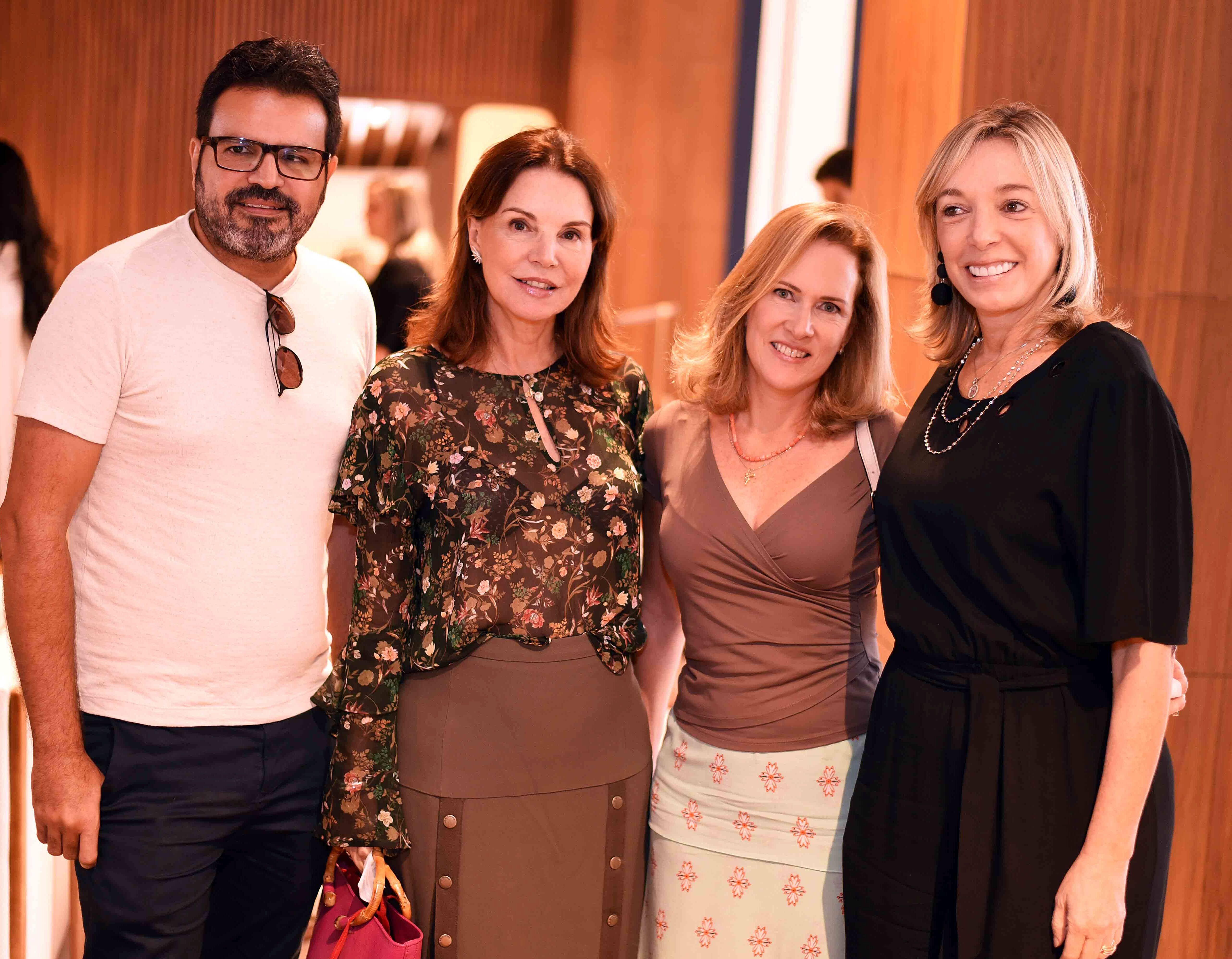 Jean Felix, Patricia Mayer, Marta Guimaraes e Anette Rivkind/ Foto:  Ary Kaye