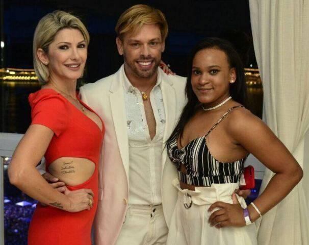 Antônia Fontenelle, Bruno Chateaubriand e Rebeca Andrade