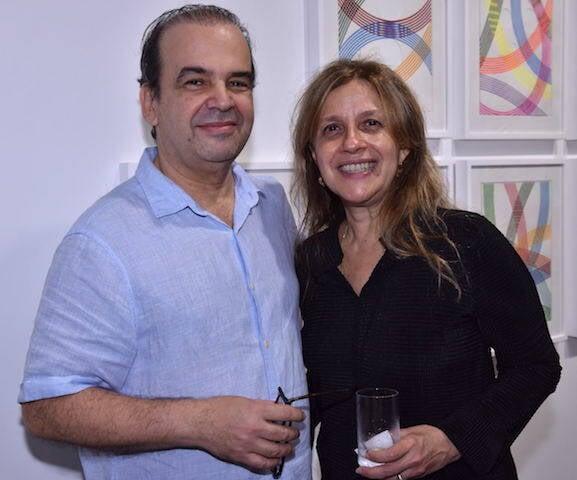 Luis Roberto Castello Branco e Marcia Milhazes