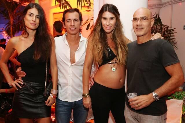 Fran Zanon, Marcel Cunha, Carla Lima e Niki Farah