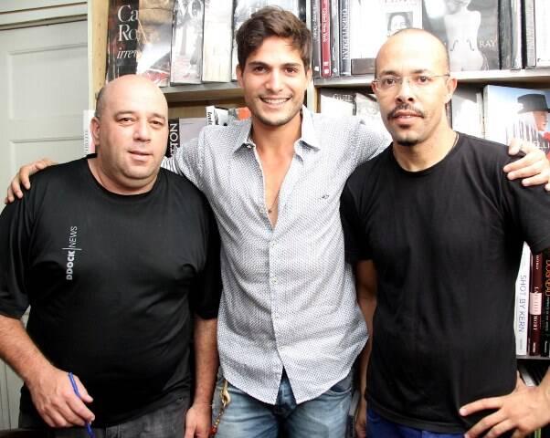 Evane Carlos, André Martinelli e Luiz Santanna