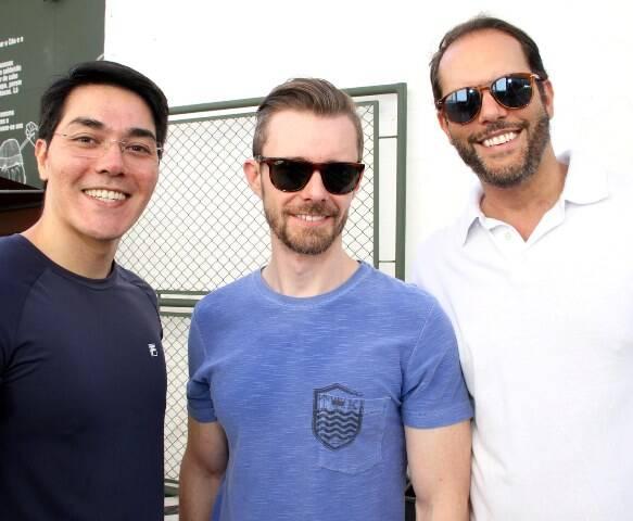 Reji Miura, Kleber Arigucci e Mario Amaral
