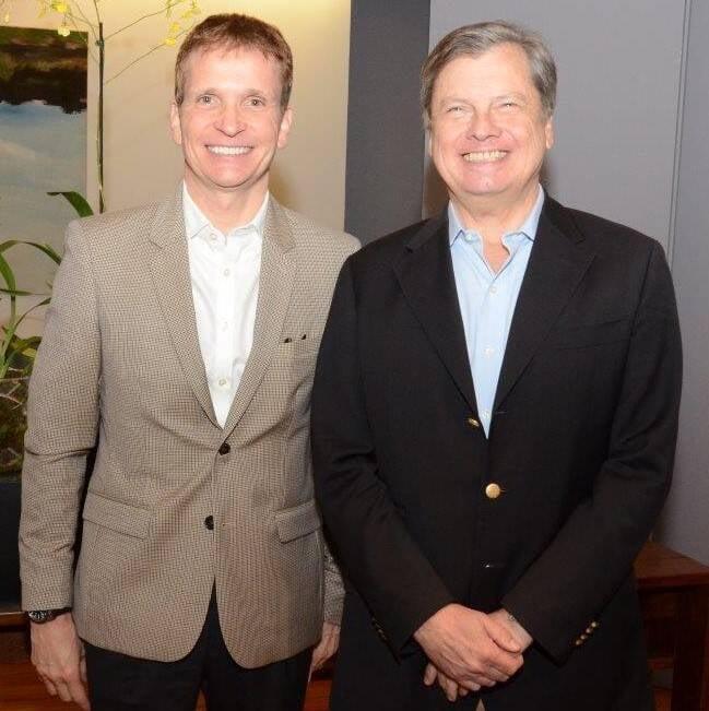 Jean-Paul Guihaumé (cônsul da França no Rio)  e Luís Fernando Serra (embaixador do Brasil na França)   /Foto: Marco Rodrigues