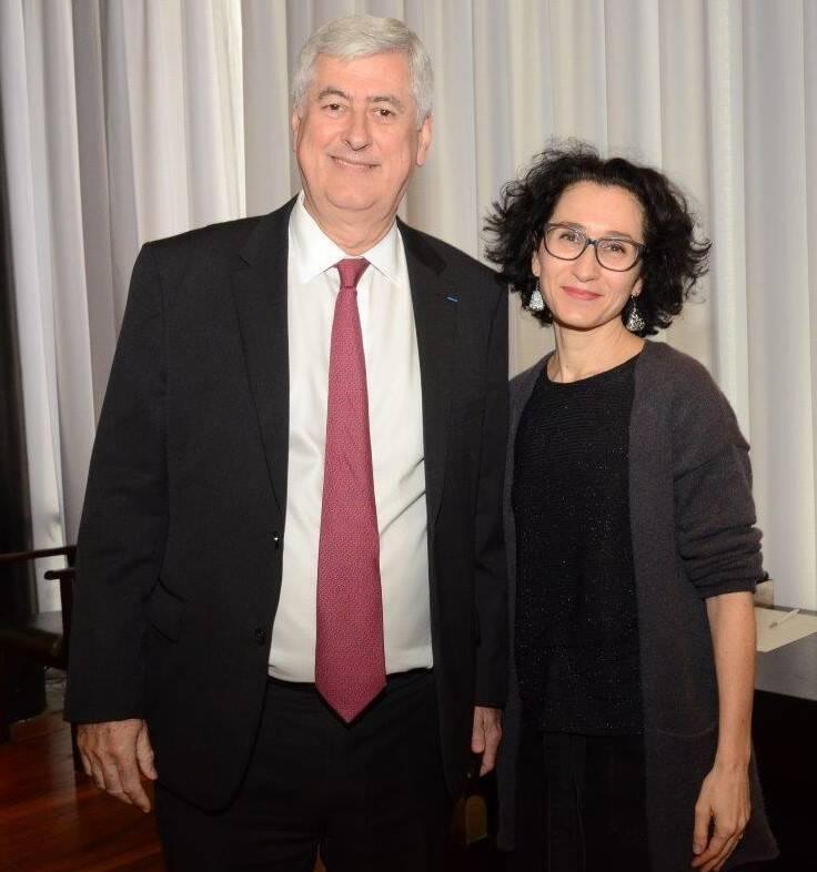 Mauricio Bähr (presidente da ENGIE Brasil) e Jaqueline Saad (diretora executiva da CCIFB)  /Foto: Marco Rodrigues