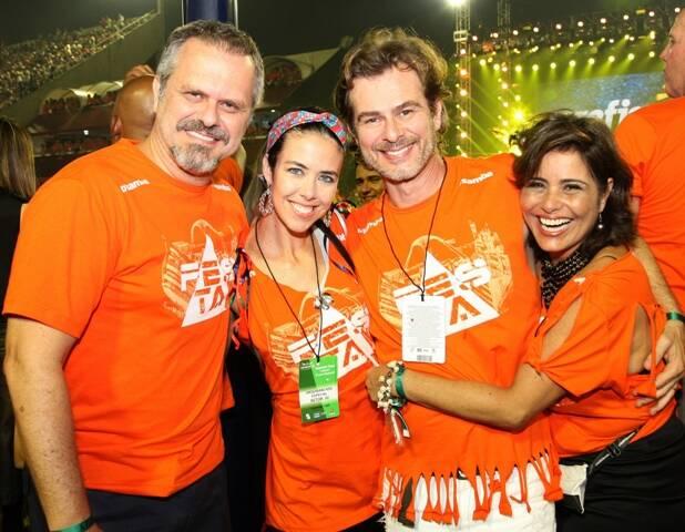 Leonardo Granco, Maria Griffith, João Vitti e Valéria Alencar